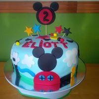 Petites Sucreries - Gâteau au Fondant Mickey Mouse