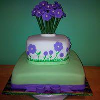 Petites Sucreries - Gâteau au Fondant Bouquet de Fleurs