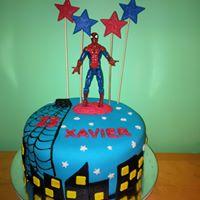 Petites Sucreries - Gâteau au Fondant Spiderman Bleu