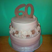 Petites Sucreries - Gâteau au Fondant Fleurs dorées 60e