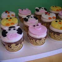 Petites Sucreries - Cupcakes (Crème au beurre) Animaux de la ferme