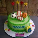 Petites Sucreries - Gâteau au Fondant Ballons Sport