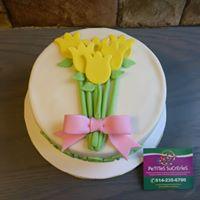 Petites Sucreries - Gâteau au Fondant Fleurs en bouquet