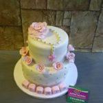 Petites Sucreries - Gâteau au Fondant Baptême bébé Fille
