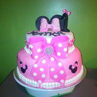 Petites Sucreries - Gâteau au Fondant Minie Mouse