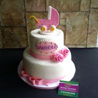 Petites Sucreries - Gâteau au Fondant Shower de bébé Fille