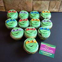 Petites Sucreries - Cupcakes (Crème au beurre) Tortues Ninja
