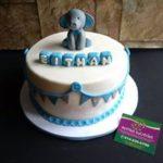 Petites Sucreries - Gâteau au Fondant Éléphant bébé garçon