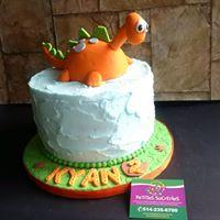 Petites Sucreries - Gâteau (Crème au beurre) Le bon dinosaure