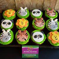 Petites Sucreries - Cupcakes (Crème au beurre) Animaux de la jungle