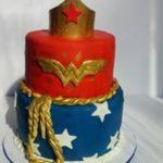 Petites Sucreries - Gâteau au Fondant Wonder Woman