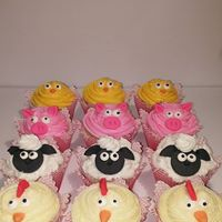 Petites Sucreries - Cupcakes (Crème au beurre) Animaux de la ferme 2