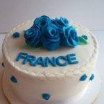 Petites Sucreries - Gâteau au Fondant Fleurs Bleues