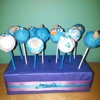 Petites Sucreries - Cakepops BLanc Bleu
